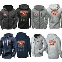 San Francisco 49ers Hoodie Football Hooded Sweatshirt Fleece Jacket Gift for Fan