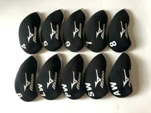 10PCS Golf Iron Headcovers for Mizuno Club Head Covers 4-LW Black Gray Universal
