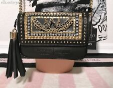 Victoria's Secret VS X Balmain Black Silver Gold Downtown Crossbody Bag