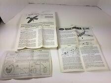Vintage P40 WARHAWK COX & TRAINER QZ .049 MANUALS INSTRUCTIONS