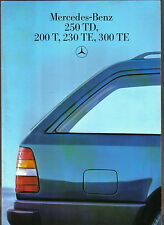 Mercedes Benz W124 Estate 200T 230TE 300TE 250TD 1986-88 Original UK Brochure