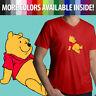 Disney Winnie the Pooh Bear Classic Cartoon Movie Film Mens Tee V-Neck T-Shirt