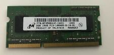 Micron 2GB 204-Pin DDR3 SO-DIMM DDR3 1333 (PC3 10600) Ram For Laptop