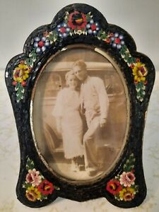Antique Micro Mosaic Picture Frame