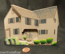 Wood House Model PAUL REVERE Boston Massachusetts Hand Painted Signed FOLK ART