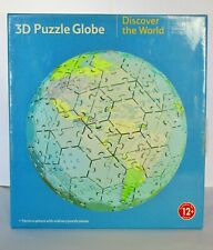 "3D Jigsaw Puzzle Globe - Discover The World - 9"" (23cm). New Other."