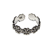 Toe Ring .925 silver girls adjustable open foot beach daisy ring feeanddave