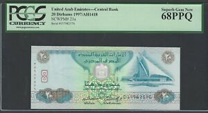 United Arab Emirates 20 Dirhams 1997/AH1418 P21a Uncirculated Graded 68