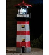 A Solar Powered Lighthouse With Rotating Search Light Great Garden Item New !!