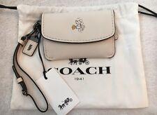 NWT Coach x Disney Mickey Mouse Chalk Beige Envelope Key Pouch Wristlet 66146