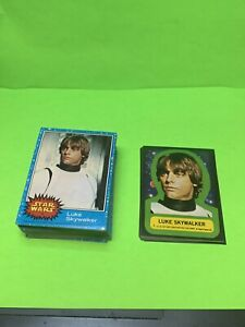 1977 Topps Star Wars Series 1 Blue Complete Set with Sticker Set Nr-mint