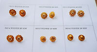 Indian stud gold plated round earrings stud goldplated u46