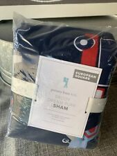 Pottery Barn Kids Brody Transportation Sham Dream Puff Euro Square Nwt