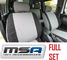 MSA CANVAS SEAT COVERS to suit NISSAN PATROL GQ WAGON FRONT & REAR 1988 - 1997