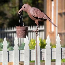 "Crow Bird Feeder Garden Stake 62"""