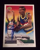 REGGIE WILLIAMS 1993 UPPER DECK Autographed Signed BASKETBALL Card 51 NUGGETS