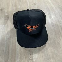 Vintage UII Baltimore Orioles Snapback Hat MLB VTG90 Black Baseball Cap