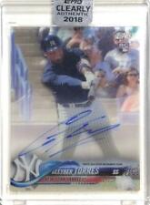 MLB Card 2018 TOPPS Gleyber Torres CLEARLY AUTHENTIC Autographs