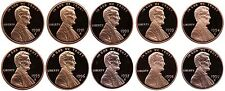 1990-1999 S Complete Set Lincoln Memorial Cent Gem Proof Run 10 Coin Set US Mint