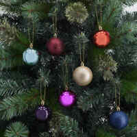 47 Pack Baubles - Festive Christmas Tree Hangings Decoration Balls Baubles FF