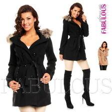 Regular Size Polyester Animal Print Coats & Jackets for Women