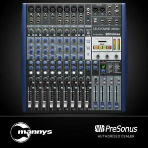 PreSonus StudioLive AR12c 14-Ch Mixer w/ Bluetooth & USB Multitrack Recording
