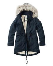 BNWT Hollister by Abercrombie & Fitch Women's Cozy-Lined Parka Faux Fur Jacket