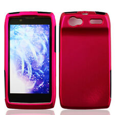 For Motorola Electrify 2 XT881 Rubberized HARD Case Snap Phone Cover Rose Pink