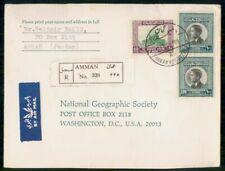 Mayfairstamps Jordan 1965 Amman Registered Natl Geographic Cover wwf_90135