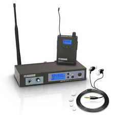 LD Systems MEI100 G2 IEM In Ear Monitoring System Inc Headphones & Rack Kit Band