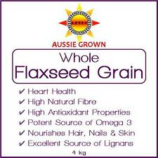Flaxseed/Linseed Grain 4kg - Clean and Pure Australian