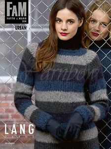 Lang ::Fatto a Mano #214:: knitting pattern book Urban Fall-Winter 2014-15