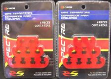Lot Of 2spectre 4602 Spark Plug Wire Dividers Separators Red Plastic