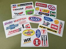 Racing Decal Sticker Set of 31 For Tool Box Locker Garage Mancave - 2 SETS AVAIL