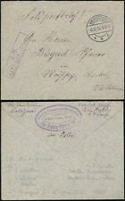 POLAND 1915 MILITARY MAIL ALSACE RATIBOR FANCY ENVELOPE AKCYJNE COMPANY GRODZISK