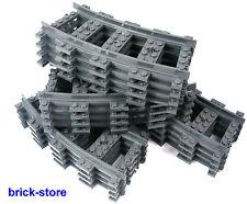 LEGO® City Eisenbahn Gebogene Schienen 16 Stück 7897.7898,7938,7939.3677,60099