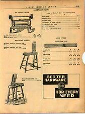 1940 AD Saddlery Tools Splitting Knives Stiching Horses Randall's Wood Jaw
