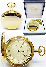 Woodford 1053 Mechanical Full-hunter Pocket Watch Mens Gold-plated Sun-burst