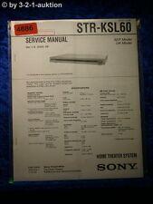 Sony Service Manual STR KSL60 Home Theater System (#4686)