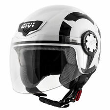Casco Helmet helm capacete demijet Visiera Givi 10.4 Stark Bianco Nero Taglia M1