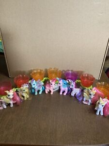 My Little Pony Breezies Parade Flower Lot Of 8 Petal Cars & Ponies Hasbro Mlp