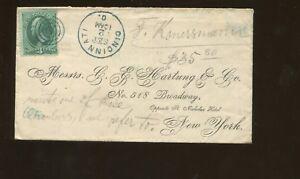 1875 Cincinnati Ohio to New York City Personal Postal Cover & Letter