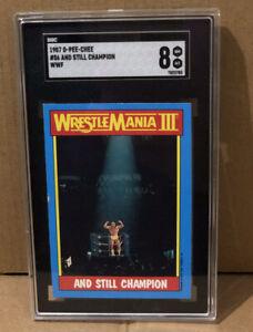 1987 SGC TOPPS CHAMPION HULK HOGAN WWF WWE WRESTLEMANIA ROOKIE TNA Wrestling HOF