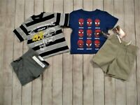 Toddler Boys 4 Piece Clothing Lot Size 2T Shorts Tops Outfits Sets Spiderman NEW