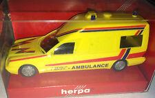 """herpa 045513 - MB W 210 Binz """"BINZ - AMBULANCE"""", H0 1:87, neu + OVP"""