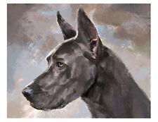 artav Great Dane 02 Art Print From Watercolor Painting