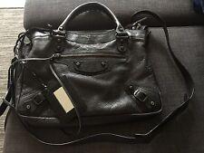 100% Authentic 2005 Black Balenciaga Town Bag/ Vintage