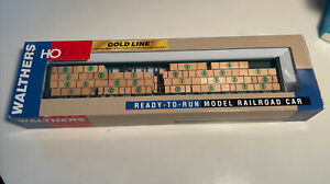 Walthers Gold Line 932-4134 72' Center Beam Flat Car TTZX 318403 Weathered Cstm