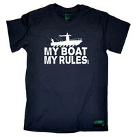 Fishing T-Shirt Funny Novelty Mens tee TShirt - My Boat My Rules
