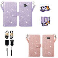 Bundle+Fierce 2/ Jitterbug Smart 2 Wallet Glitter Premium Leather Flip Card Case